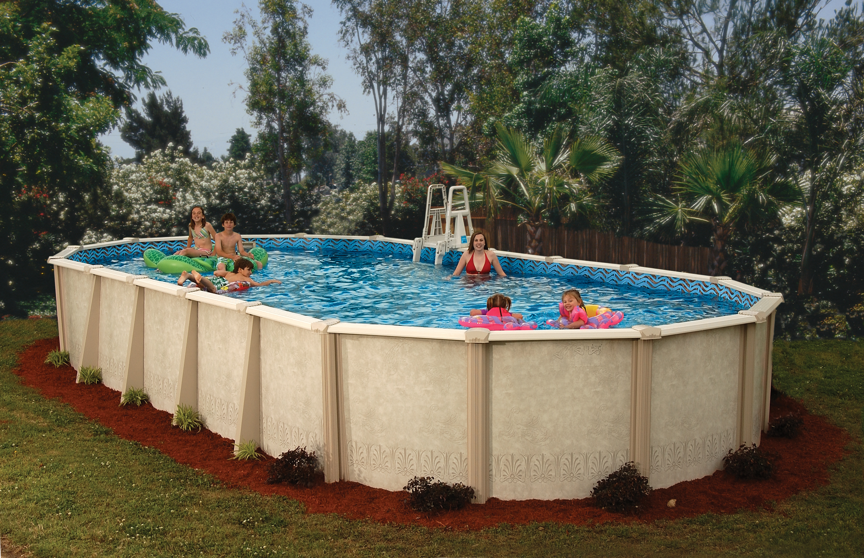 Doughboy pools sharp pools spas for Oval swimming pool