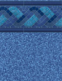 Blue Trinidad Tile Pool Liner