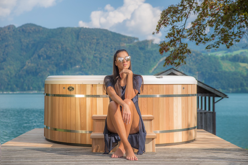 Round Hot Tub on Dock