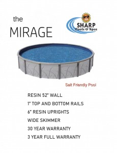 MIRAGE POOL SELL SHEET